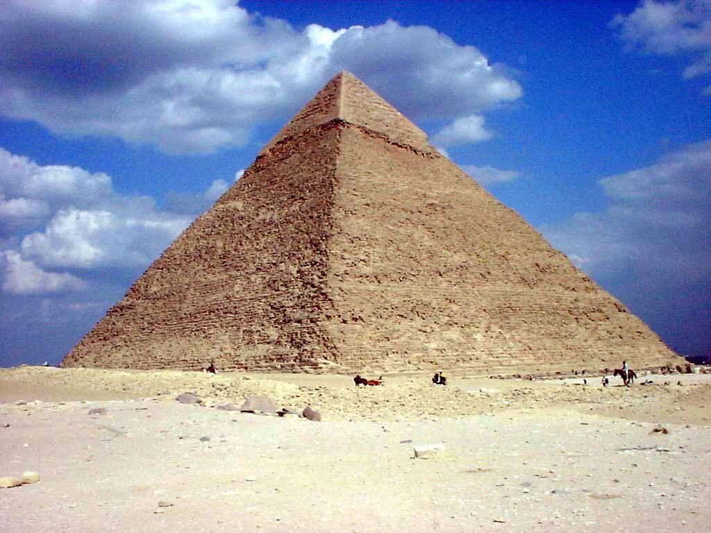 Die Chephren Pyramide in Gizeh (Kairo)