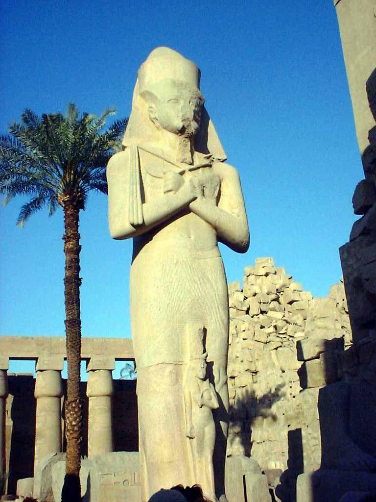 Pharao Ramses II. mit Tochter