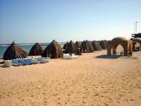 Am Strand des Utopia Beach Club