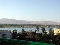 Blick über Luxor und Nil Richtung Tal der Könige
