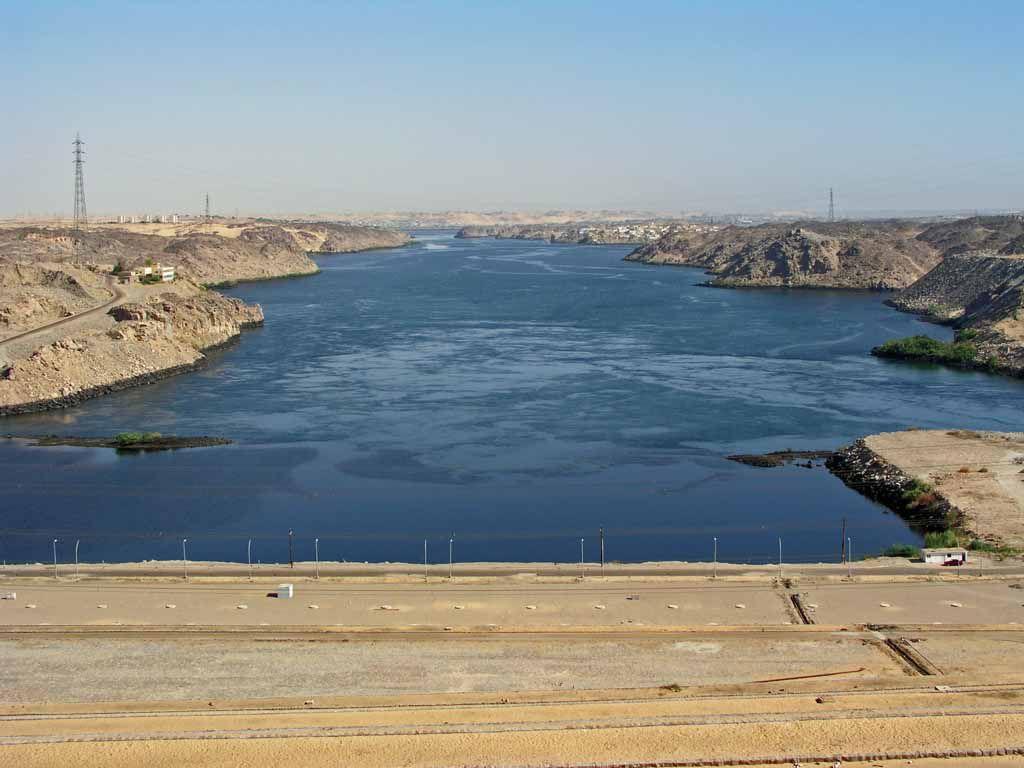 Assuan, der Nil nach dem Staudamm