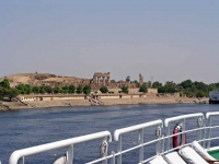 Kom Ombo, Doppeltempel vom Nil aus