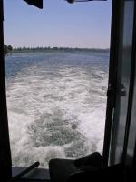 MS Hamees, Blick zurück auf den aufgewühlten Nil