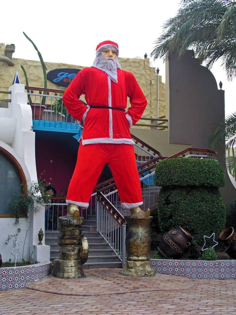 Hurghada, Hotel Aladdin Beach, Weihnachtsdekoration