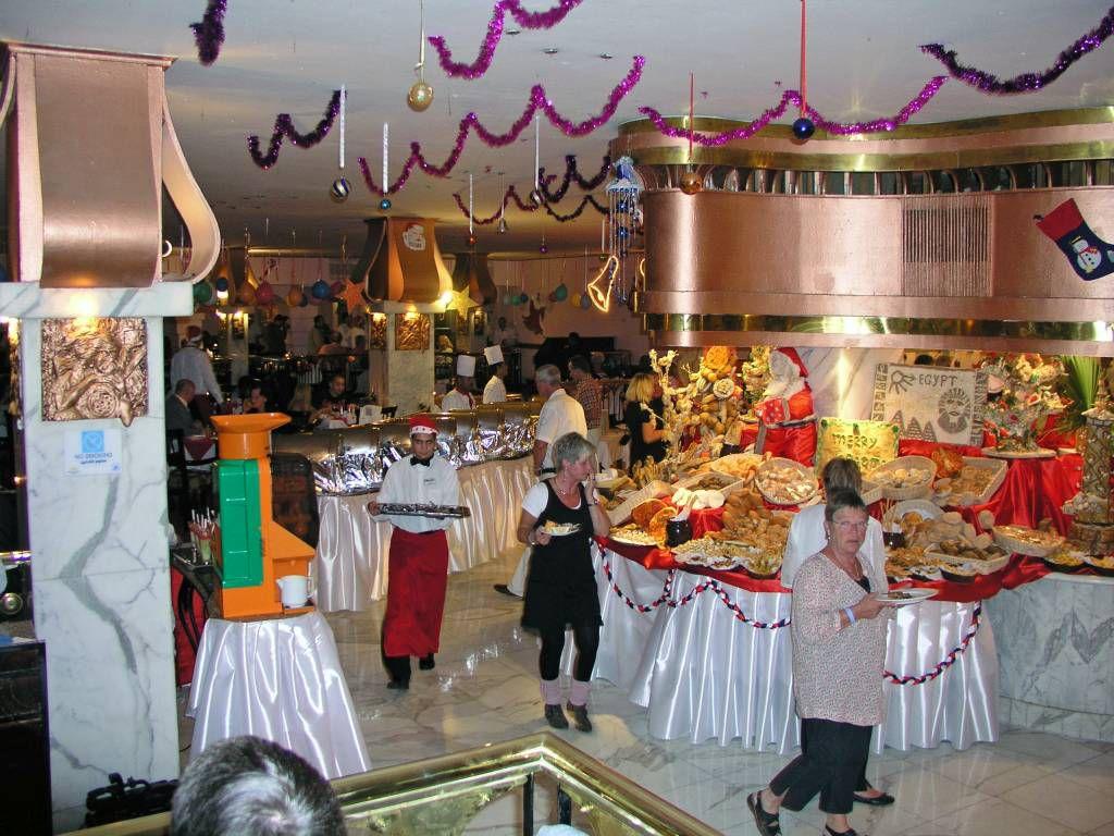 Hurghada, Hotel Aladdin Beach, Weihnachtsbuffet