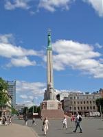 Riga, Park am Basteiberg, Freiheitsdenkmal