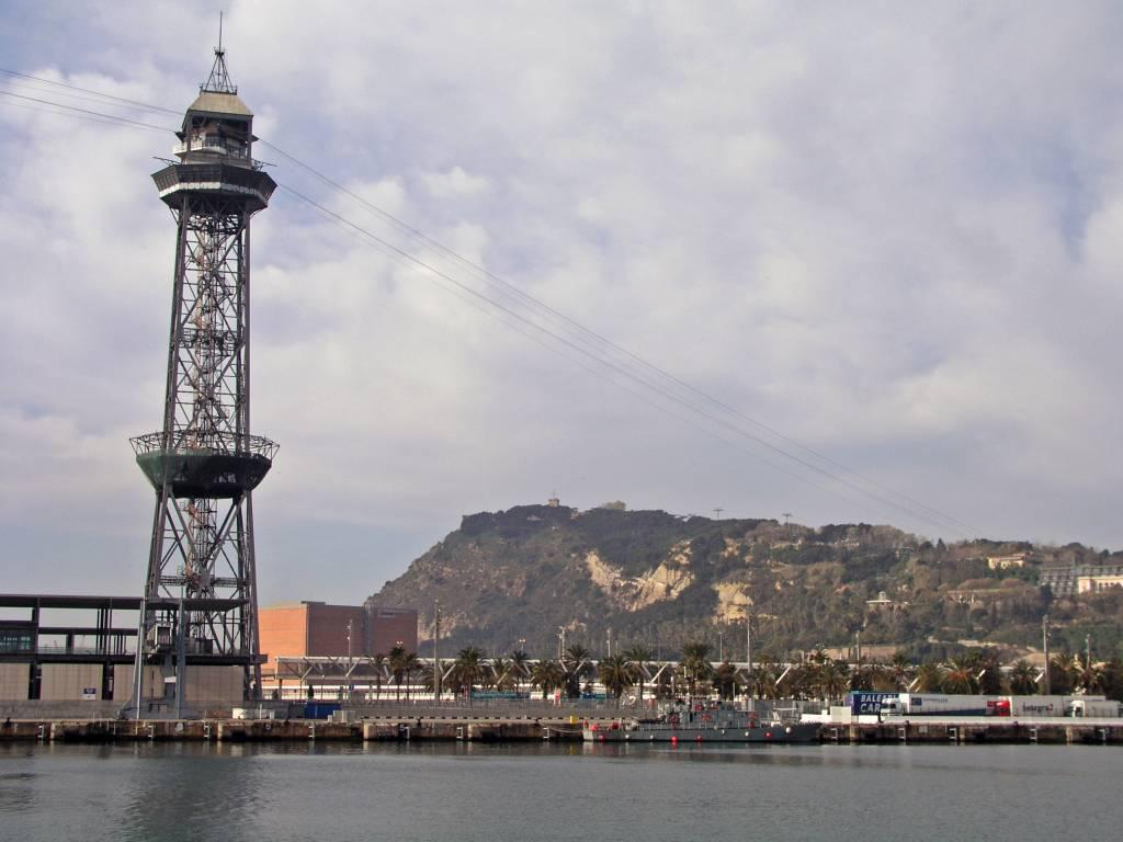 Barcelona, Turm der Hafenseilbahn