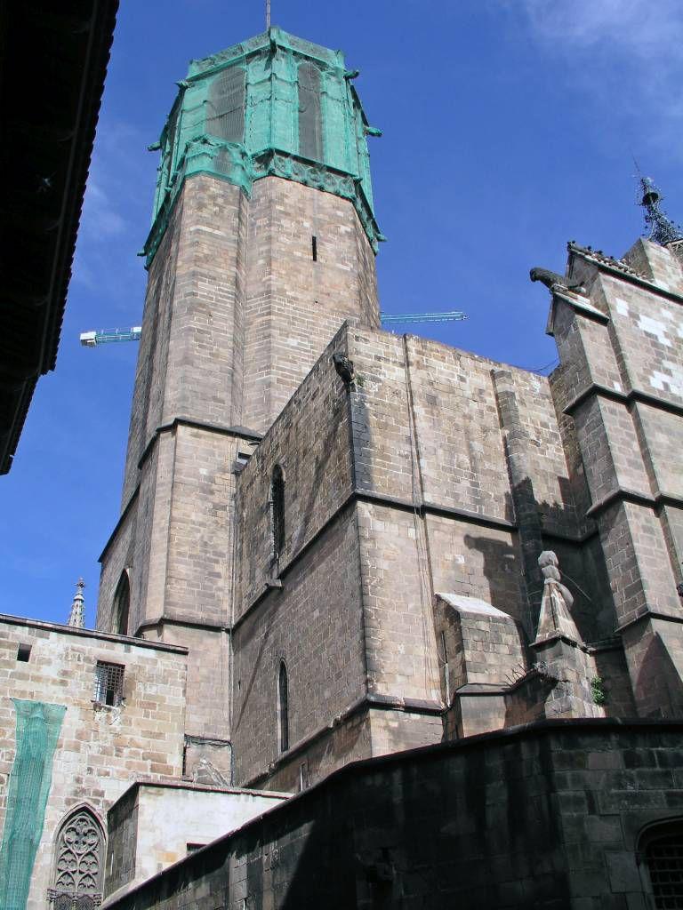 Barcelona, Blick auf die Kathedrale von Barcelona