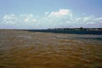 Zusammenfluss des  Roten und Schwarzen Amazonas nahe Santarém