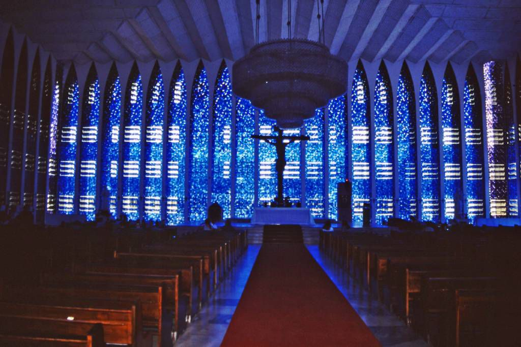 Brasilia, die Blaue Kapelle von innen