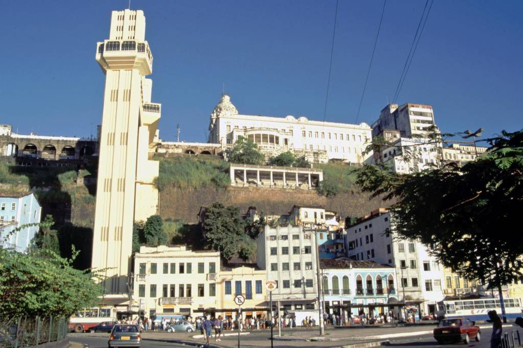 Savador da Bahia, untere Stadt, Lacerda Aufzug