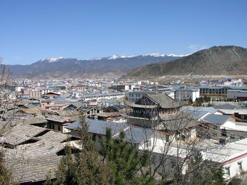 Shangri-La, Guishan Park, Blick auf Dêqên