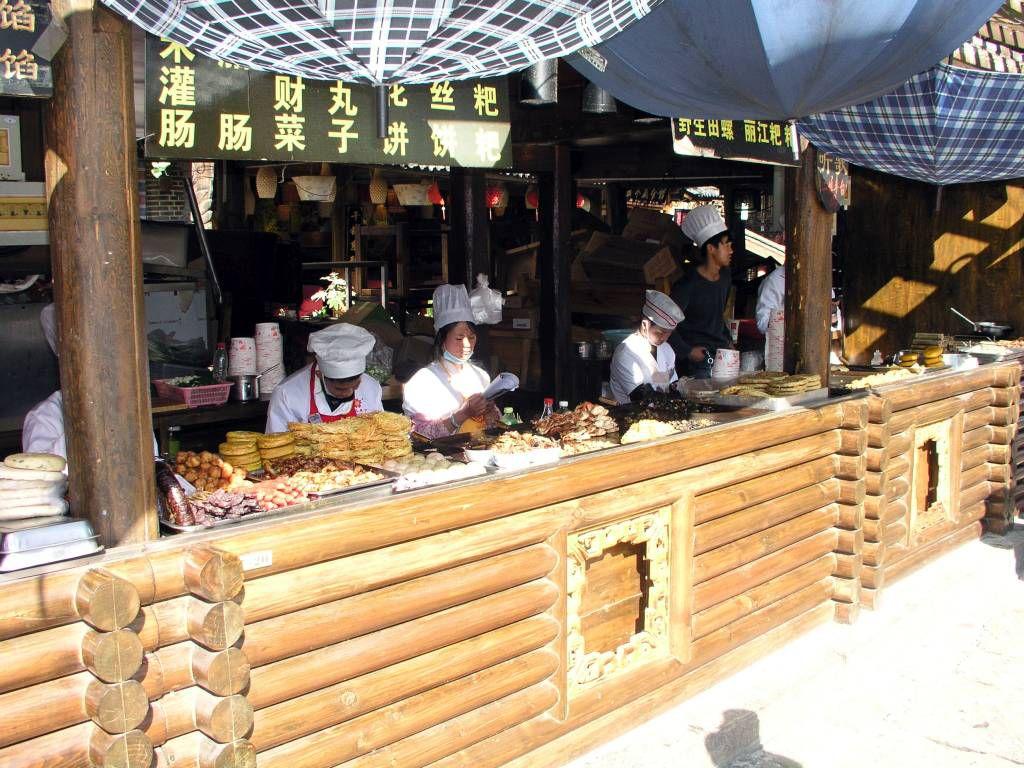 Lijiang, Altstadt, Essenstand