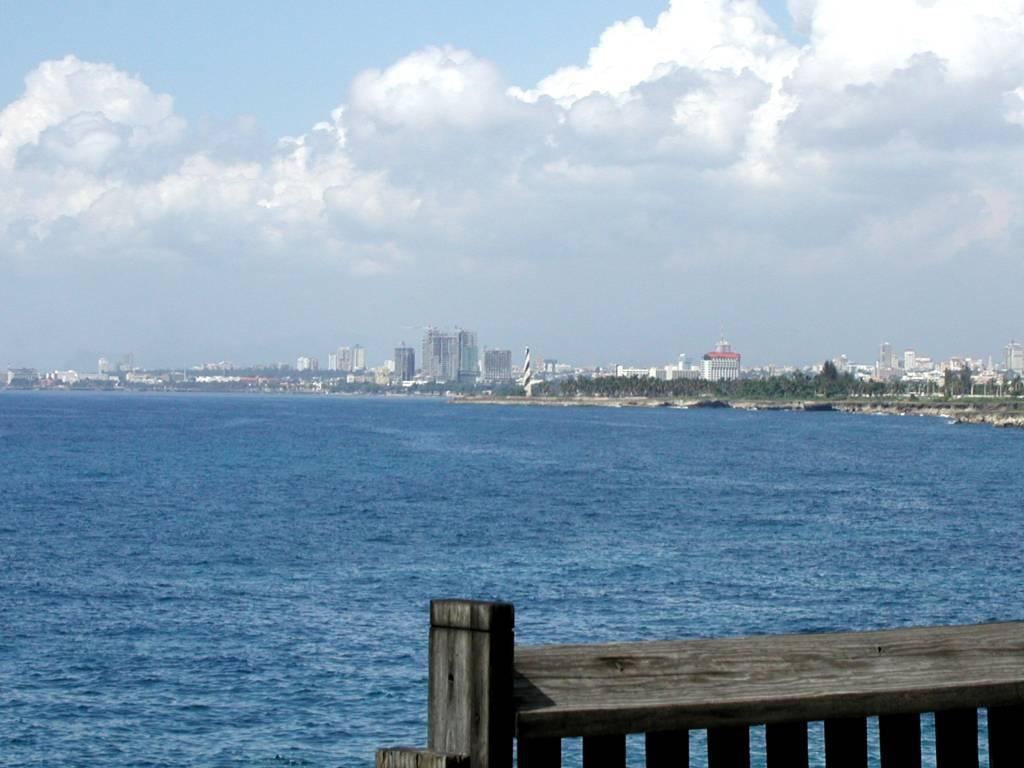 Blick auf Santo Domingo vom Aquarium aus