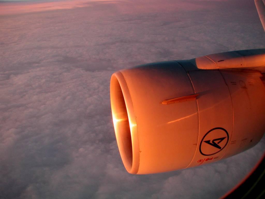 Sonnenaufgang, Rückflug