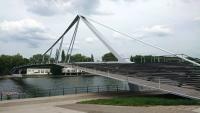 Lüttich, Fußgängerbrücke über die Maas