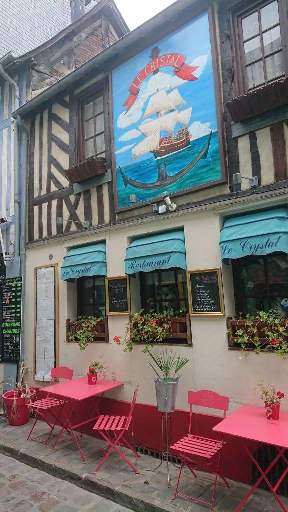 Honfleur,Altstadt, Fachwerkhäuser, Gaststätte