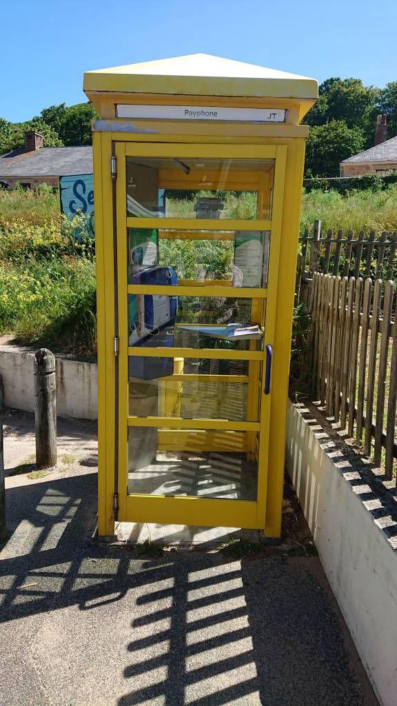 Jersey, La Grève de Lecq, Telefonzelle