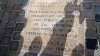 Reims, Kathedrale, Gedenktafel zur deutsch-französischen Versöhnung