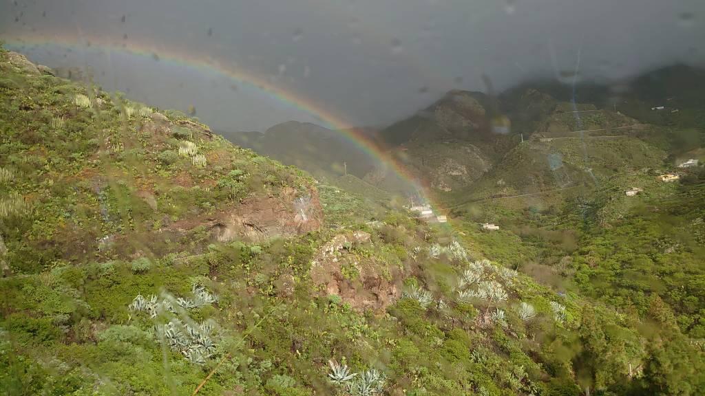 Teneriffa, Los Tableros, Regenbogen