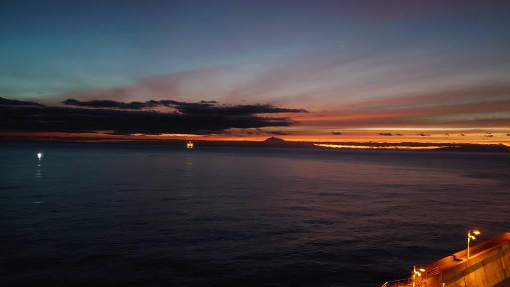 La Palma, Santa Cruz, Sonnenaufgang