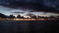 Teneriffa, Santa Cruz, Sonnenaufgang