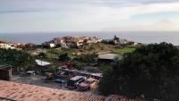 La Gomera, Blick auf Agulo, im Hintergrund der Teide