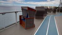 Mein Schiff 2, Strandkörbe an Deck