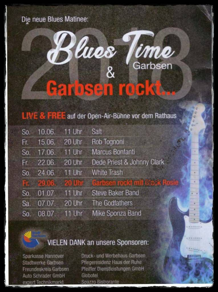 Programm der Blues Time Garbsen 2018