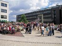 Der neue Veranstaltungsort hinter dem Rathaus am 08.07.2007