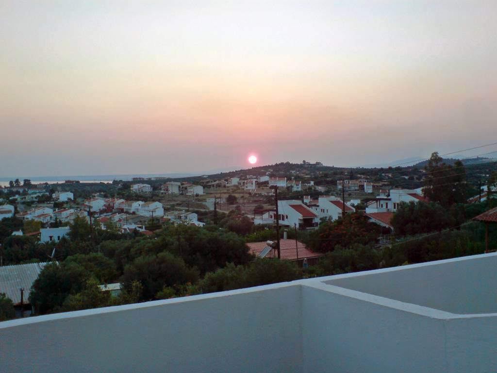 Gerakini, Hotel Glavas Inn, Sonnenuntergang