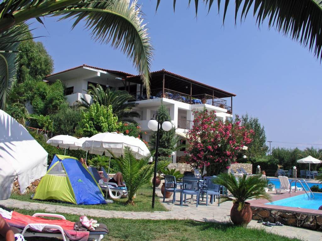 Gerakini, Hotel Glavas Inn, Restaurantgebäude