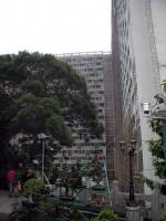 Hongkong, Sik Sik Yuen Wong Tai Sin Temple, Bambusgerüst am Hochhaus