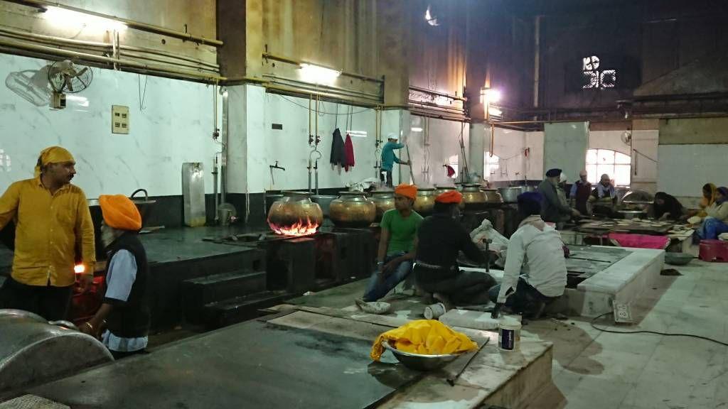 Delhi, Sri Bangla Sahib Gurdwara, Küche für die Armen