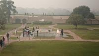 Delhi, Raj Ghat, Gedenkstätte für Mahatma Ghandi