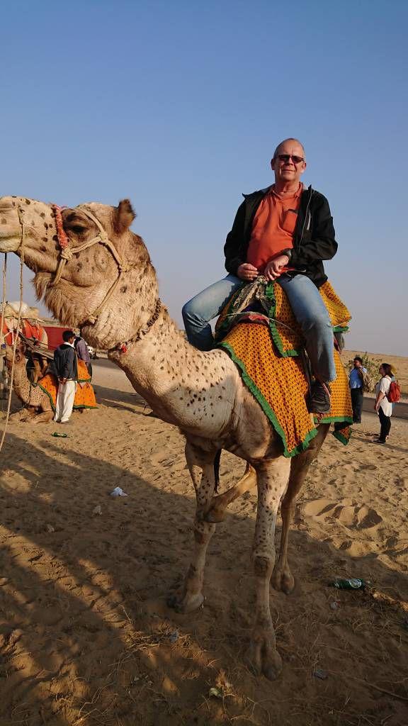 Jaisalmer, Kamelritt in den Sanddünen