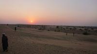 Jaisalmer, Sonnenuntergang in den Sanddünen