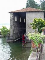 Stresa, Isola Madre, Bootsanlager  im Palazzo Madre