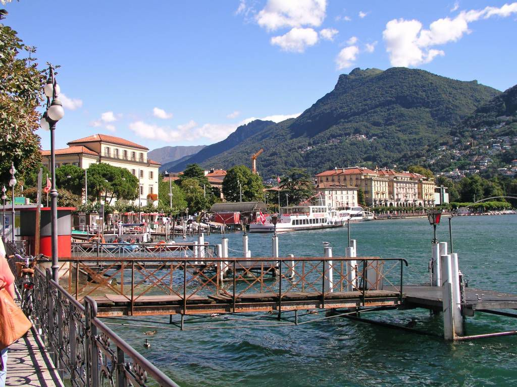 Lugano, am See