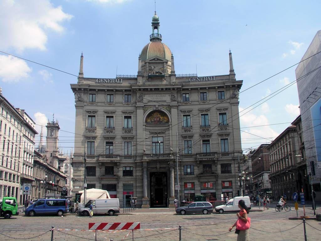 Mailand, Cordusio, Gebäude der Generali Versicherung