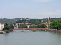 Verona, auf der Ponte Aleardo Aleardi