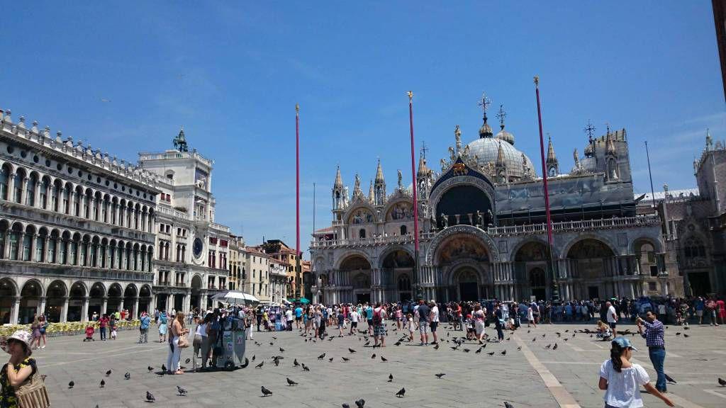 Venedig, Blick auf den Markusplatz und den Markusdom