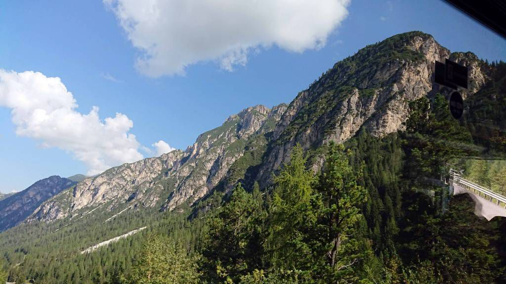 Misurina, Blick auf die Dolomiten
