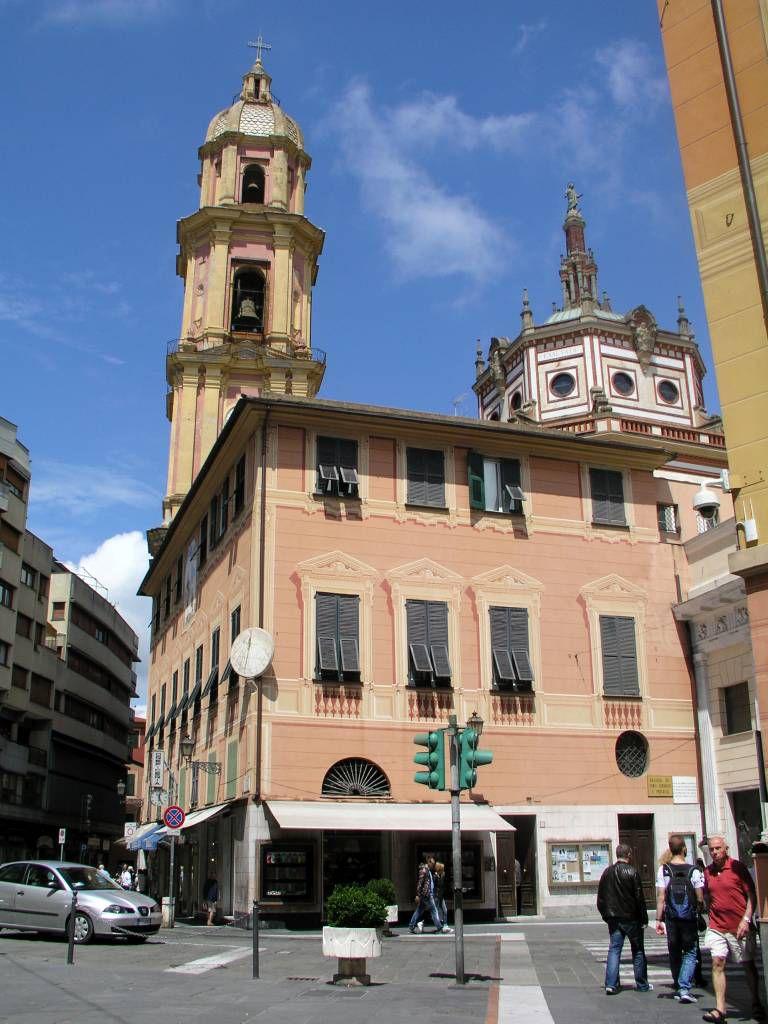 Rapallo, Türme der Kirche der Heiligen Gervasio und Protasio