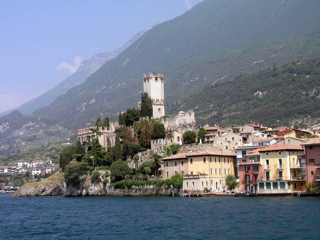 Malcesine, Castello Scaligero vom Gardasee aus