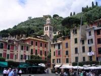 Portofino, Blick auf den Kirchturm von San Marino