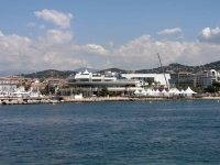 Cannes, Festivalgelände vom Meer