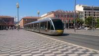 Nizza, Masséna Platz, Straßenbahn