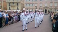 Monaco, vor dem Fürstenpalast, Wachablösung