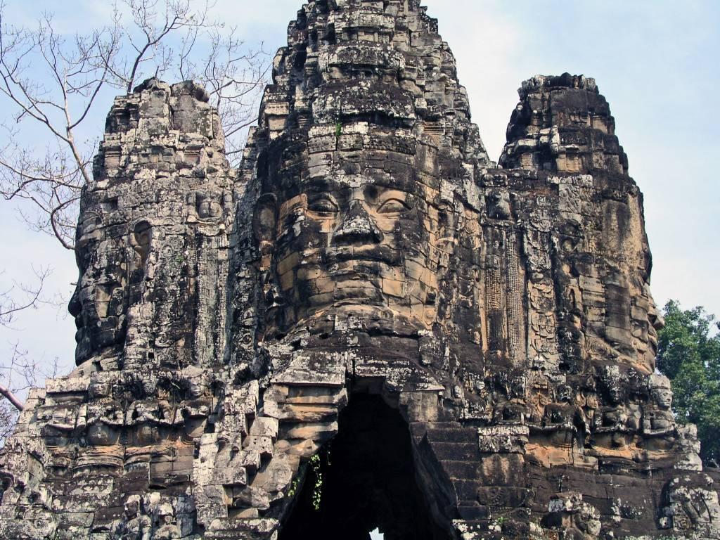 Siem Reap, Angkor Thom, Tonle Om Gate, Südtor